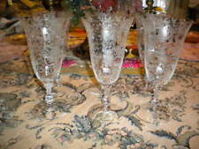 Cambridge Etched Glass Large Wine Glass - Set of 6