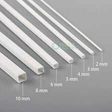 7pcs Styrene ABS Square Tube 500mm 2/3/4/5/6/8/10mm in Diameter