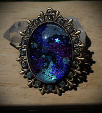 Cosmic Bright Galaxy Bronze Necklace Lolita/Pastel Goth/Alt/Festival/Rave/Alt