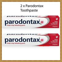2 x 75 ml  Parodontax Toothpaste Classic Herbal with Fluoride Stop Bleeding Gums