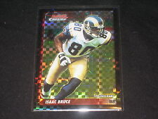 ISAAC BRUCE GENUINE PACK PULLED AUTHENTIC FOOTBALL INSERT CARD RARE XFRACTOR/250