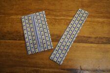 Handmade Shabby Chic Tissu Support & Lime à ongles Étui Rétro Rayures Bleu