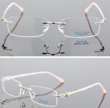 LE Diamond Glasses Rimless Female Pure Titanium Floral Prescription Lenses Mayia