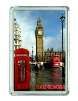Iman Nevera Panorámico LONDON LONDRES ENGLAND Panoramic fridge magnet souvenir