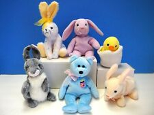 6 Ty Plush Easter Beanie Babies for Baskets or Decoration