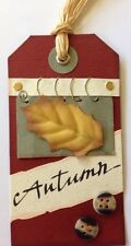 """AUTUMN DAY""""FRESH TAGS"""" HANDMADE GIFT TAGS(1pc)Rebecca Sower•Thanksgiving•Fall"""