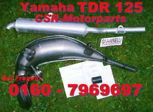 Auspuff Yamaha TDR 125 DT Giannelli Tuning Krümmer ABE (Aprilia Sachs ZX ZZ 125)