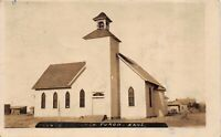 Real Photo Postcard Church in Turon, Kansas~122726