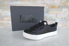 Karl Lagerfeld 39 SNEAKERS Loafers Lace up Shoes Black Previously