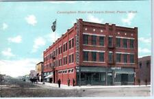 PASCO, Washington  WA   CUNNINGHAM HOTEL  Lewis Street Scene ca 1910s Postcard
