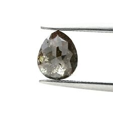 Loose Natural Diamond 1.15TCW Yellowish Gray Sparkling Pear Rose Cut for Jewel