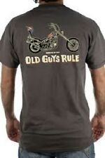 NWT OLD GUYS RULE MENS BORN TO BE WILD GRAY COTTON TEE T-SHIRT SIZE M