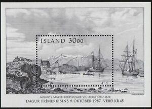 ES-14160 ICELAND Sc. 646 Stamp Day 1987 MNH souvenir sheet