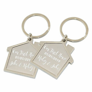 PERSONALISED First Home Keyrings Our First Home Keyring Customised House Gift