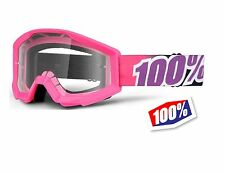 100% STRATA PINK GUM OFF ROAD GOGGLE MOTOCROSS DIRT BIKE ATV UTV MX MOTO EYEWEAR