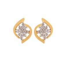 Pave 0,45 Cts Runde Brilliant Cut Natürliche Diamanten Ohrstecker In 18K Gold