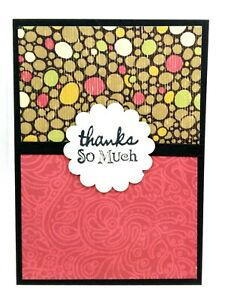 THANKS SO MUCH Greeting Card KIT Lot of 4 - You can make your own cards