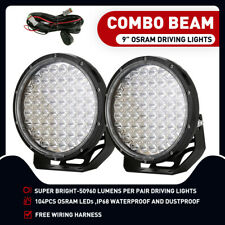 99999W 9inch OSRAM LED SPOT Driving Lights Round Spotlights Spot Lights 7D Lens