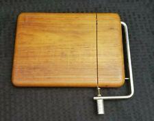 Vintage Danish Modern Style Goodwood Genuine Teak Wire Cheese Cutter Board
