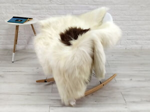 REAL ICELANDIC SHEEPSKIN RUG CHAIR SOFA FLOOR COVER SOFT HIDE SKIN LARGE G207