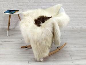 REAL ICELANDIC SHEEPSKIN RUG CHAIR SOFA FLOOR COVER SOFT HIDE SKIN LARGE G207
