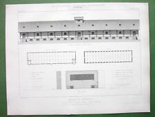 ARCHITECTURE 2 PRINTS : France Malun Ile St. Etienne Wholesale Building