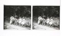 Francia snapshot Amateur Foto Stereo L7n1 Vintage Placca Da Lente