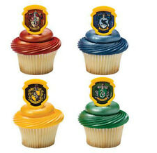 Harry Potter cupcake rings (24) party favor cake topper 2 dozen Hogwarts Houses