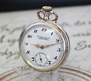 Antike Taschenuhr in 0.800 Silber pocket watch Richard Meschke HANNOVER