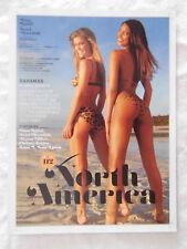 2013 Swimsuit Model Nina Agdal Ariel Meredith Body Paint Magazine Page Photo Ad