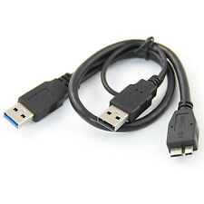 AKORD USB 3.0 Type A Male to Type B Micro USB Y Cable - NEW