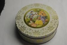 Vintage Fruit Cake Tin Cookies Chic Man Woman Courtship Shabby Sewing Wedding