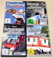 4 PC SIMULATOREN SAMMLUNG NOTARZT CHIRURGIE FLUGRETTUNG RETTUNGSWAGEN SIMULATOR