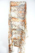 ABSTRACT LADIES COLOURFUL ORANGE / BROWN TRIBAL THEME BOLD SCARF (MS41PT4)