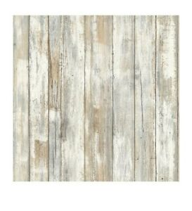 RoomMates Distressed Wood Peel and Stick Wall Decor