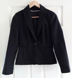 Dorothy Perkins Black Blazer Size 8 Workwear Office Button Lined Jacket Smart