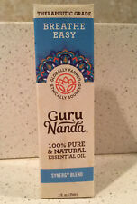 Guru Nanda Breath Easy Therapeutic Grade Essential Oil Synergy Blend Eucalyptus