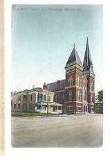 1st M E Church & Parsonage Marion In Methodist Episcopal Postcard 693