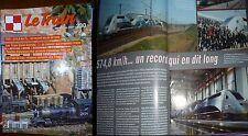 REVUE LE TRAIN N° 230 JUIN 2007 /TGV 574,8 KM/H/LES TEE