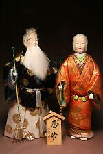 kissako Japanese Kimekomi KIMONO Dolls Noh Takasago Doll Pair Silk NEW