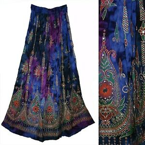 Plus Size 1X 2X 3XL Skirt For Retro Maxi Jupe Long Women Falda Dress Ethnic Boho