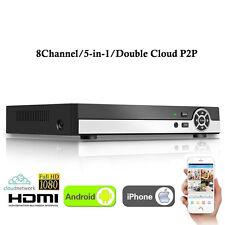 8 Channel HD 1080P 5-in-1 CCTV Surveillance Video Recorder Hybrid DVR AHD NVR