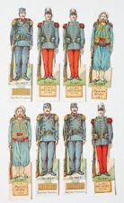 8 petits soldats chromo Publicité pour les biscuits OLIBET fin du 19e siècle