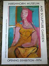 Willem De Kooning 1974 Hirshhorn Smithsonian Museum Exhibition Opening Poster