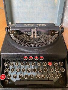 Antique 1937 Remington Monarch Pioneer Vintage Typewriter
