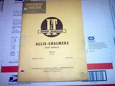 D-15 Vintage Allis-Chalmers Tractor I&T Shop Service Manual