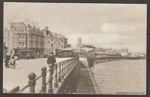 Postcard Penzance Cornwall view of the Promenade posted 1910