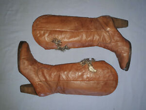 Sam Edelman Size 10 Brown Leather High Heel Cowgirl  Boots