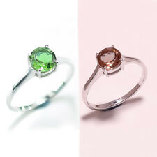 Solitaire 925 Sterling Silver Color Change Diaspore Gemstone Fine Jewelry Ring