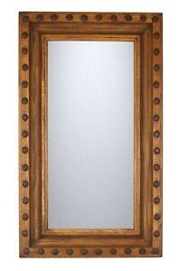 Guadalajara Mirror-Clavo-Reclaimed Old Wood-Mexican-20x34-Western-Spanish-Custom